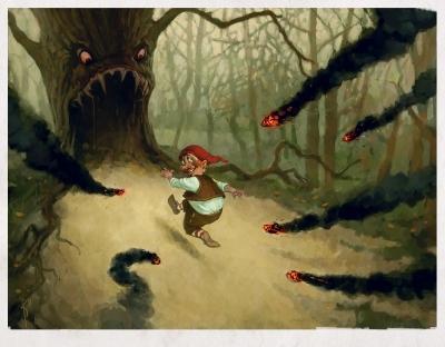 Беги, гном, беги. Иллюстрация Вальдемара Казака