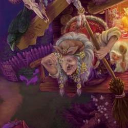Баба Яга. Иллюстрация Владимира Аржевитина