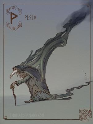 Песта. Иллюстрация Томаса Денмарка