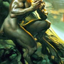 """""""Сатир"""". Картина Бориса Валледжо (фрагмент)"""