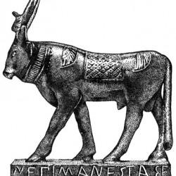 Апис. Бронзовая фигура (книжная ч/б иллюстрация)