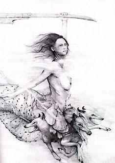 Сцилла. Карандашный рисунок XIX века