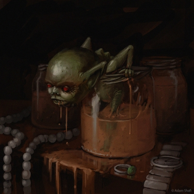 Тойол-тиянак. Иллюстрация Шафи Адама