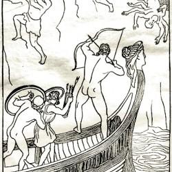 Шестирукие великаны с Медвежьей горы. Иллюстрация И.Архипова