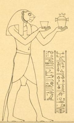 Бог-демон Шезму. Прорисовка изображения из храма в Дендере