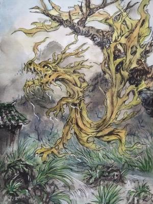 Сиро-унэри. Иллюстрация Хуаши Хао Юань