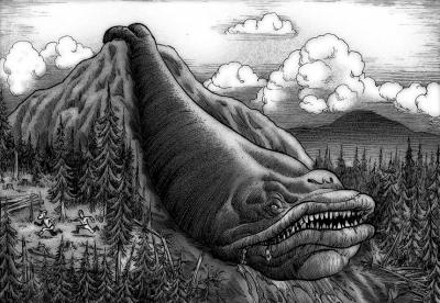 Делювиальный болтер. Иллюстрация Ричарда Свенссона