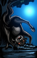 Сигбин. Иллюстрация Лэнс Катан