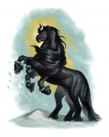 Слейпнир. Иллюстрация Брайана Сайма