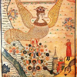 Райская птица Сирин. Русский лубок