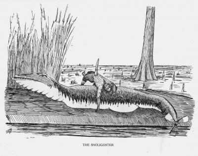 """Снолигостер. Иллюстрация Кёр Дю Буа из книги """"Устрашающие твари промысловых лесов"""""""