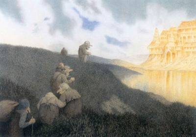 Замок Сориа-Мориа (Soria Moria slott). Иллюстрация Теодора Киттельсена, 1911