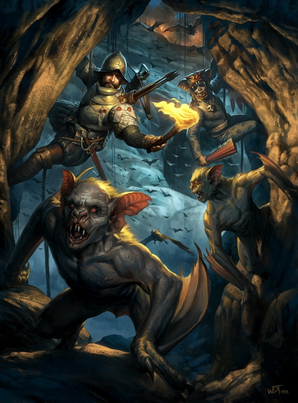 Чупакабра и южноамериканские охотники на вампиров. Иллюстрация Даррена Тана