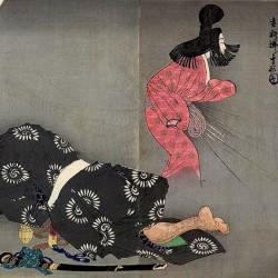 """""""Appartion of the Spider Princess"""" by Tsukioka Yoshitoshi"""