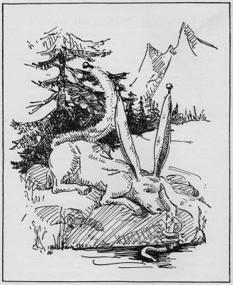 """Песчаный звяк. Иллюстрация Маргарет Рэмси Трайон из книги """"Устрашающие твари"""" (1939)"""