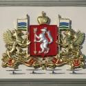 Герб Свердловской области на здании Законодательного собрания
