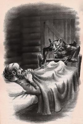 Хвость (Tailypo). Иллюстрация Кэтрин Ковилл к одноименной американской сказке