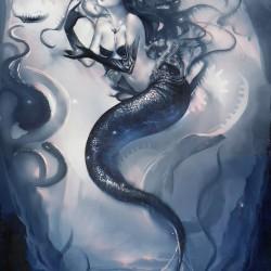 Темная русалочка. Иллюстрация Сакими Чан