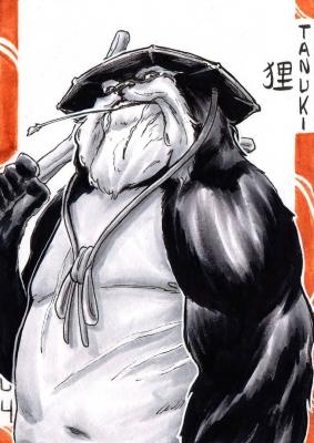 Тануки. Иллюстрация Лукаса Перейры