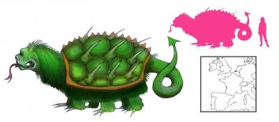 """Тараск. Иллюстрация с сайта """"A Book of Creatures"""""""