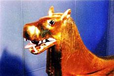 Подлокотник древнеегипетского ложа в виде головы Таурт