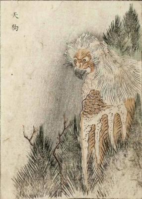 Тэнгу. Цветная копия Набэты Гёкуэя с рисунка Ториямы Сэкиэна