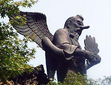 Yamabushi Tengu. Статуя в Камакуре