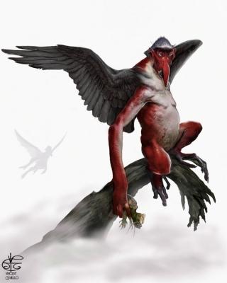 Тэнгу. Иллюстрация Винсента Ковьелло