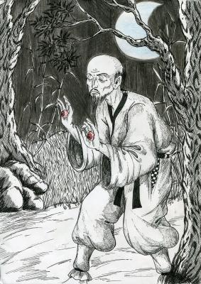 Тэ-но мэ. Рисунок Натальи Немченко