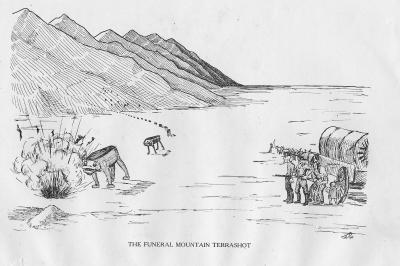 """Похоронный горный террашот. Иллюстрация Кёр Дю Буа из книги """"Устрашающие твари промысловых лесов"""" (1910)"""