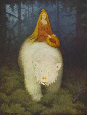 Белый медведь король Валемон (Kvitebjørn kong Valemon). Иллюстрация Теодора Киттельсена, 1912