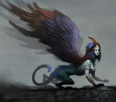 Сфинкс. Иллюстрация Томаса Денмарка