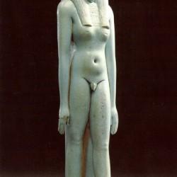 Фаянсовый амулет, изображающий бога ибисоголового Тота