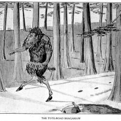 """Подорожный шмыг. Иллюстрация Кёр Дю Буа из книги """"Устрашающие твари промысловых лесов"""""""