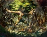 "Tree Elemental. Иллюстрация Грега Стэйплза к ККИ ""Magic: The Gathering"""