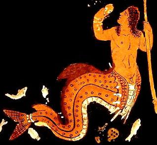 Тритон. Краснофигурная ваза (450 в.н.э.)