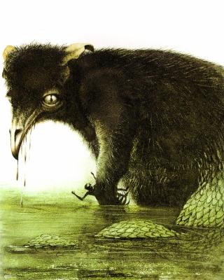 Буньип. Иллюстрация Роберта Ингпена