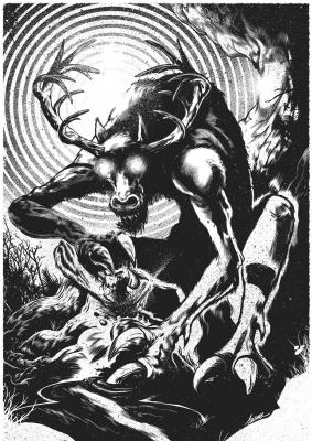 Вендиго. Иллюстрация Джошуа Эндрю Белангера
