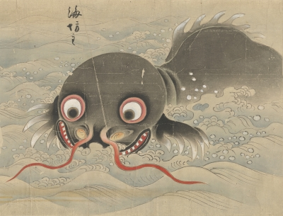 Уми-бодзу. Иллюстрация Кано Торин Ёсинобу (狩野洞琳由信), 1802 год