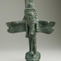 Бронзовая статуэтка древнеегипетского божества Бэса