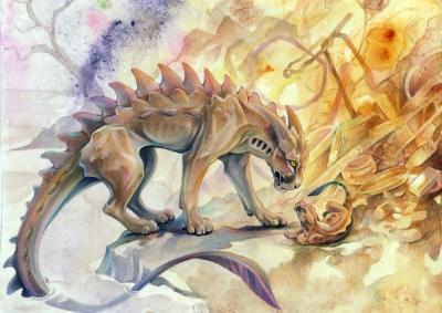 Мичибичи, водяная пантера. Иллюстрация Грейс Оувен