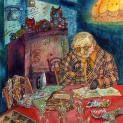 Упырь. Иллюстрация Ларисы Рябининой