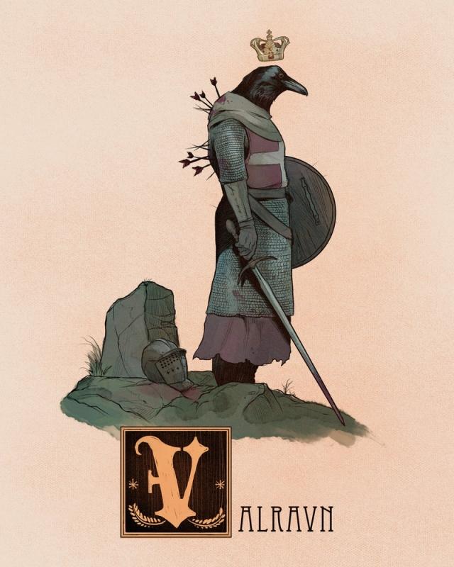 """Вальравн. Иллюстрация Натана Андерсона (Nathan J. Anderson, """"Deimos-Remus"""")"""