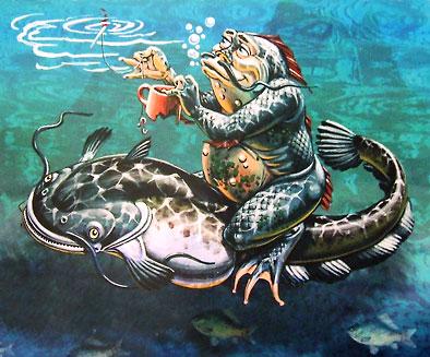 Водяной. Рисунок А.Бушкина