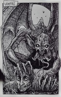 Вампир. Иллюстрация Дарека Кшака (DK13Design)