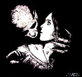 Вампир на иллюстрации к книге Барона Олшеври