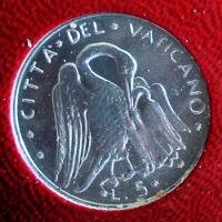 Пеликан на монете Ватикана в 5 лир (1972)
