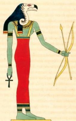 Богиня Нехбет. Книжная иллюстрация