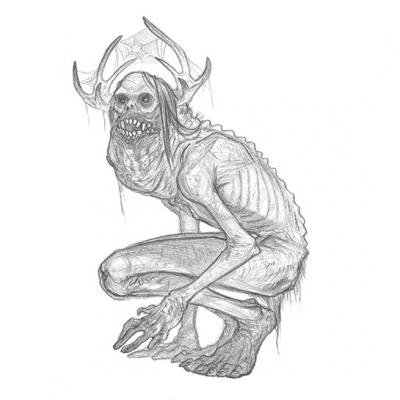 Вендиго. Иллюстрация Бринн Мезени