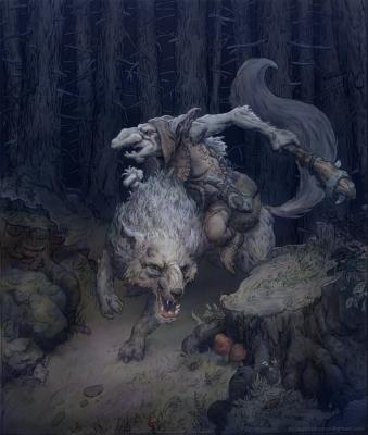 Гоблин-волчий наездник. Рисунок Йонаса Йенсена